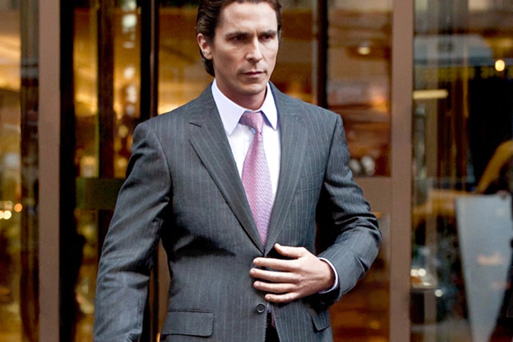 Christian Bale in Armani and incognito.