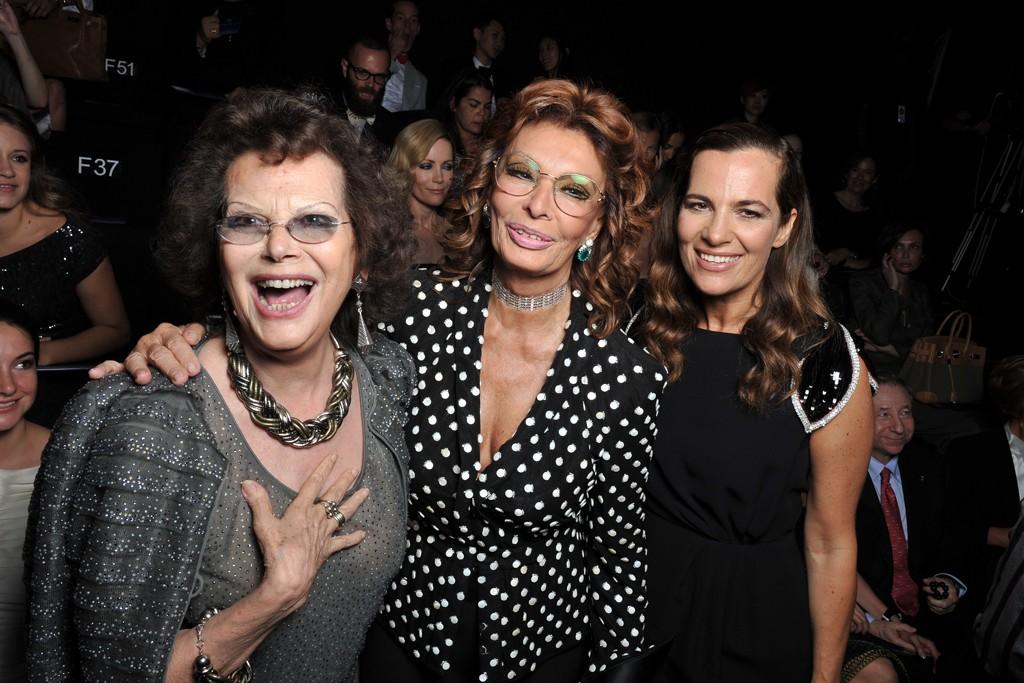 Claudia Cardinale, Sofia Loren and Roberta Armani