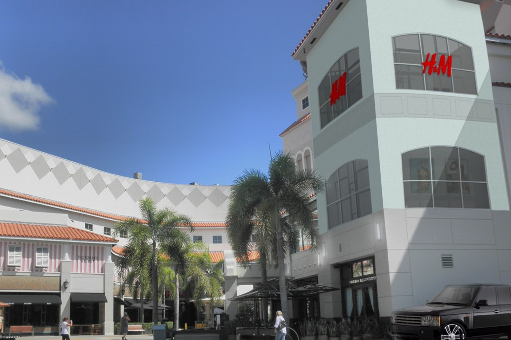 A rendering of the H&M flagship at the Aventura Mall.