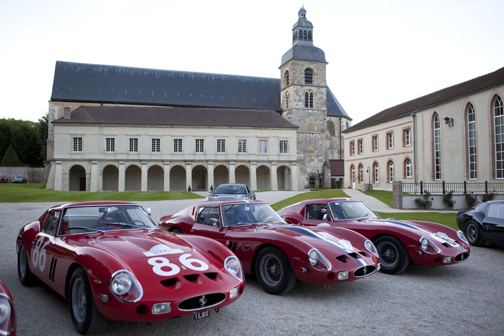 A view of the Ferrari 250 GTOs.