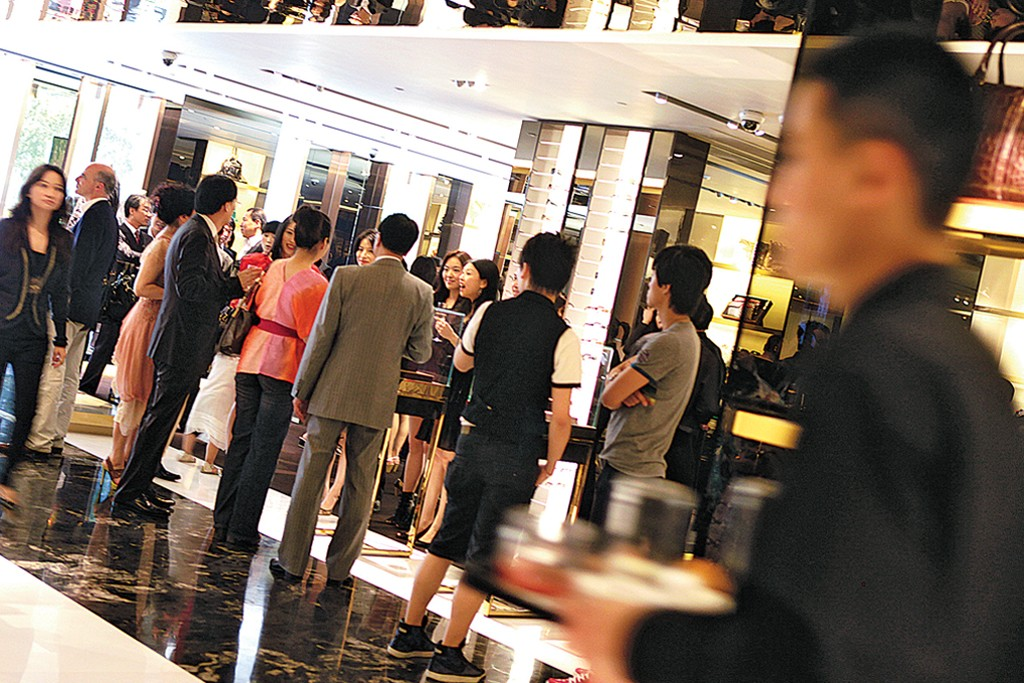 Luxury shoppers in China.