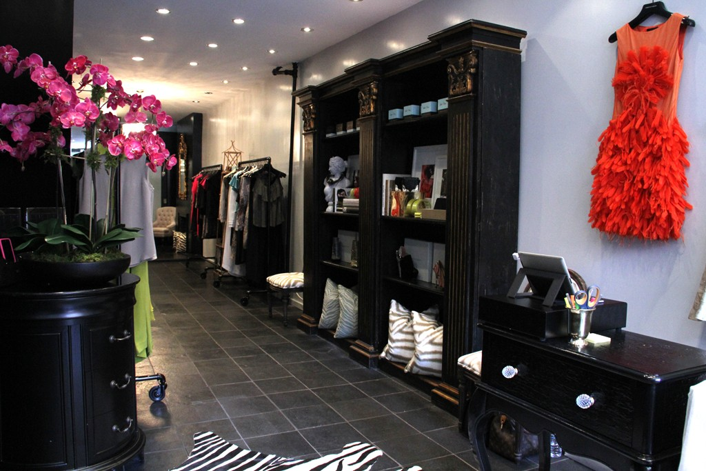 The view inside Christian Siriano's store on Elizabeth Street.