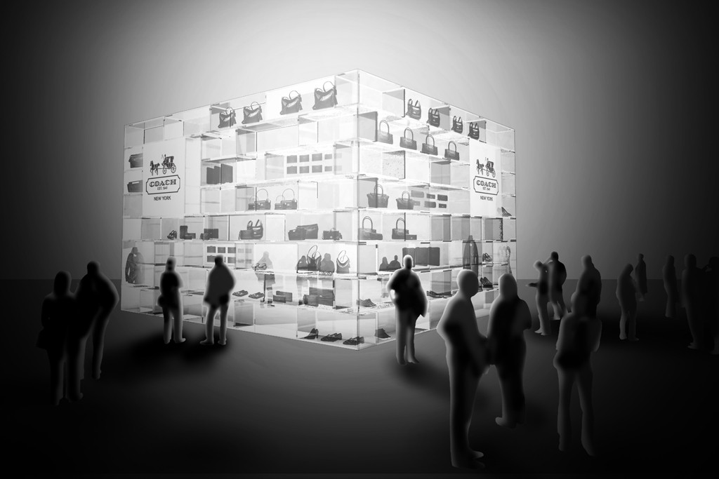 A rendering of Coach's new Macy's shop-in-shop designed by OMA.