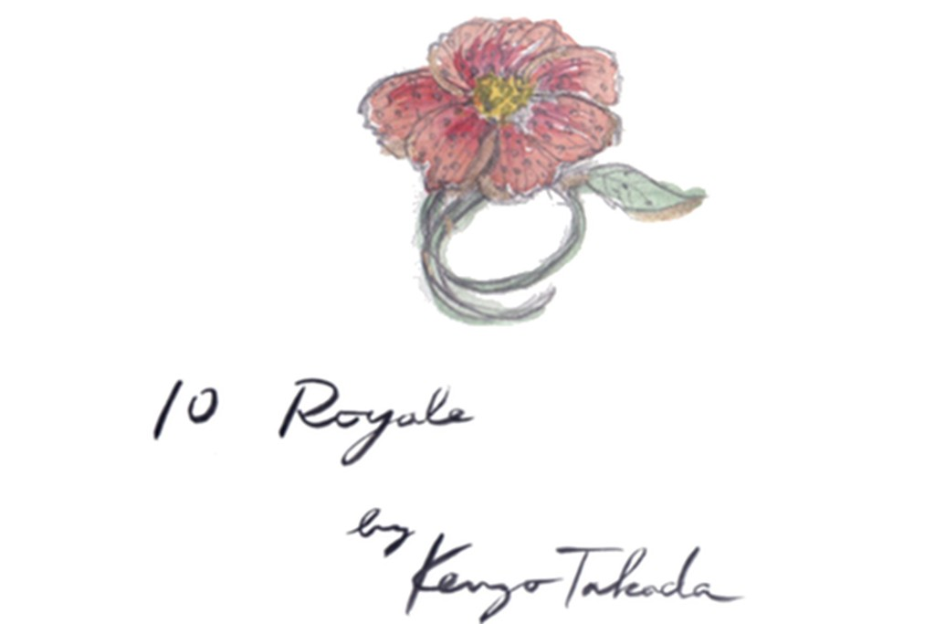 A sketch of a piece from Kenzo Takada's fine jewelry collection for 10 Royale.
