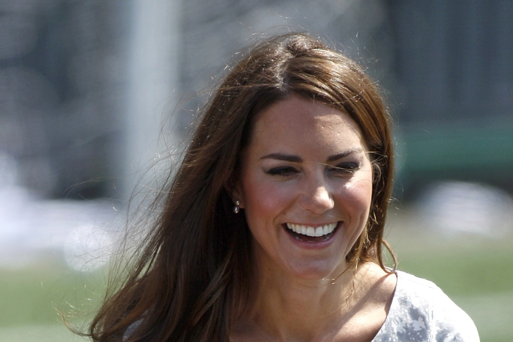 The Duchess of Cambridge at the Coach Core program at Baron's College in London.