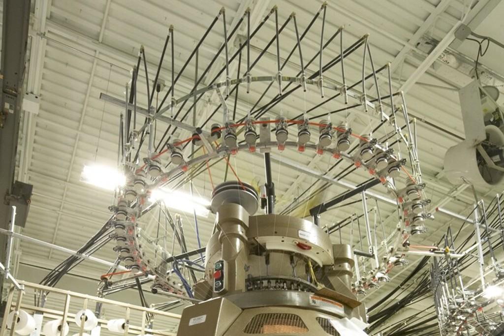 One of Fessler USA's knitting machines.
