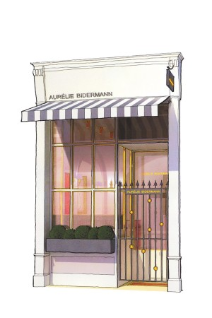 A rendering of the Aurélie Bidermann flagship.