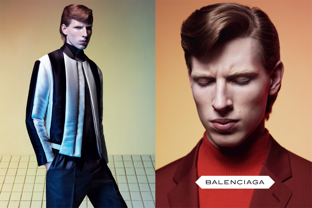 Balenciaga's first men's campaign, shot by Josh Olins.