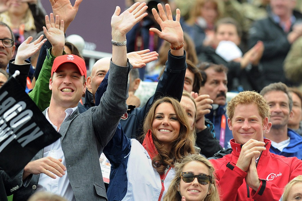 The Duke and Duchess of Cambridge with Prince Harry.