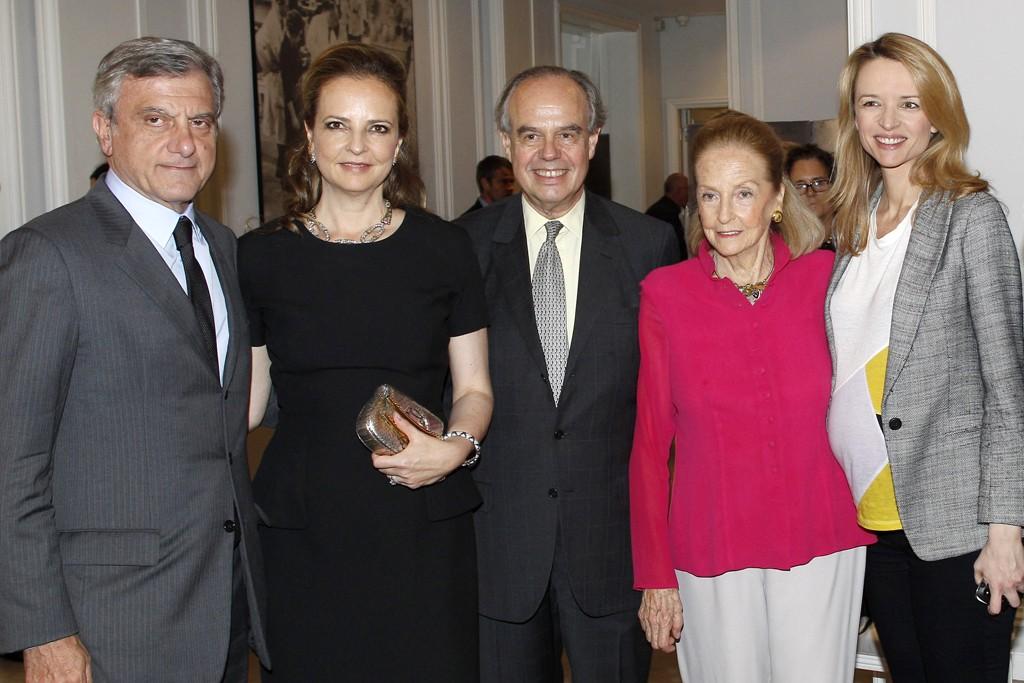 Sidney Toledano, Victoria Brynner, Frédéric Mitterand, Doris Brynner and Delphine Arnault.