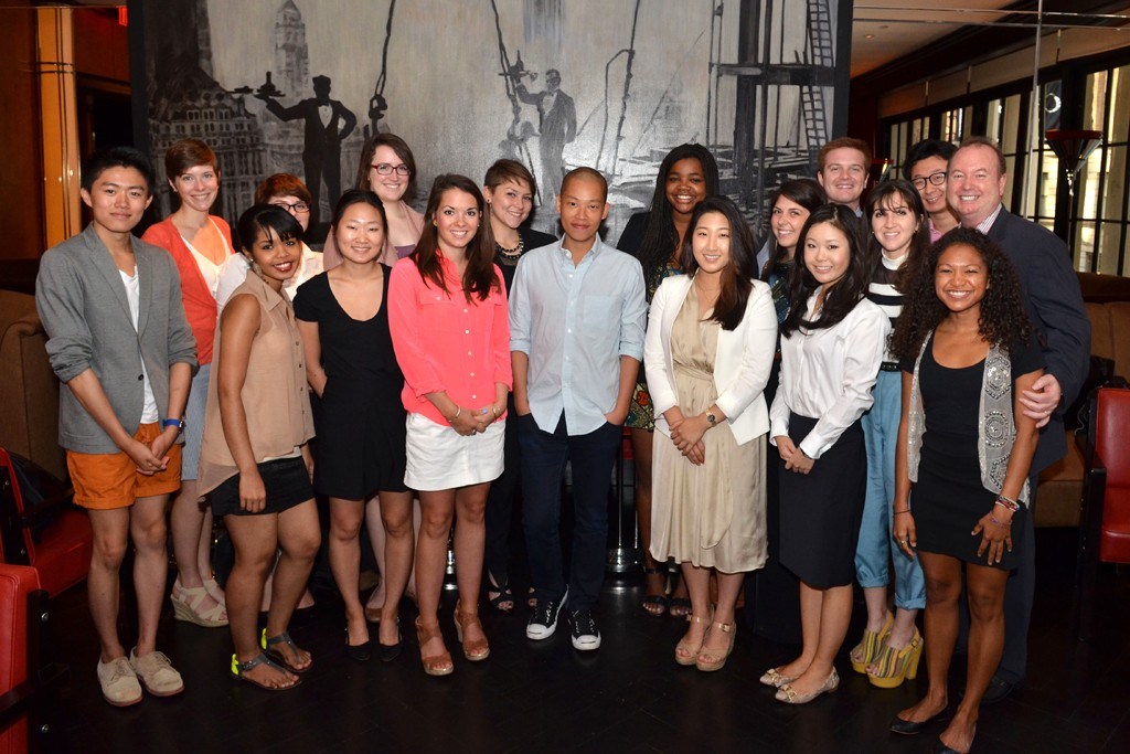 Jason Wu with the students.