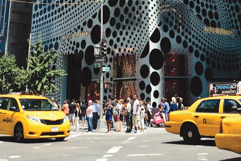 The Louis Vuitton storefront.