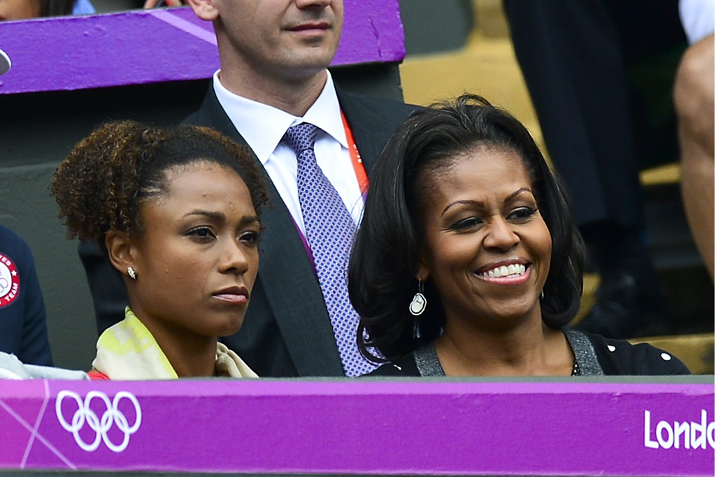 Venus Williams and First Lady Michelle Obama at the 2012 Summer Olympics.