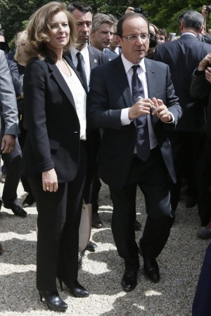 Valerie Trierweiler and French President Francois Hollande