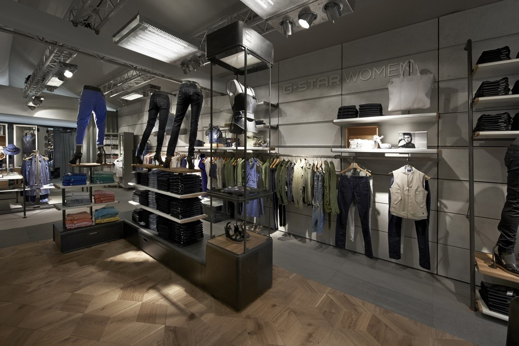 The new G-Star Women store in Amsterdam.
