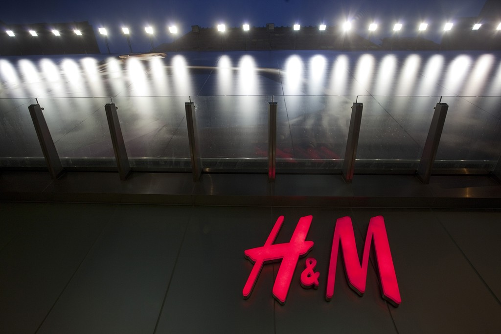 The H&M store in the Central shopping district in Hong Kong.