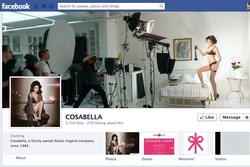 Cosabella's Facebook page.