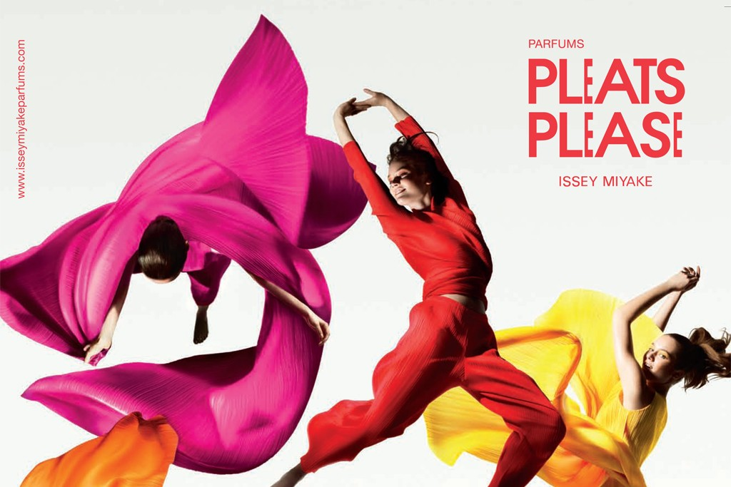 The ad for Pleats Please by Issey Miyake.