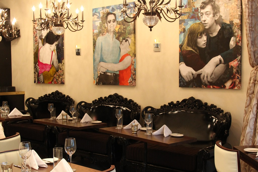 The dining room at Jezebel.