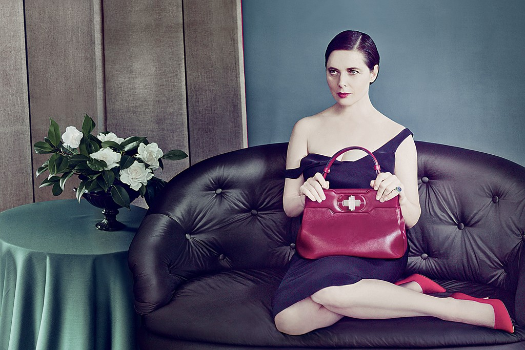 Isabella Rossellini in the Bulgari ad campaign.