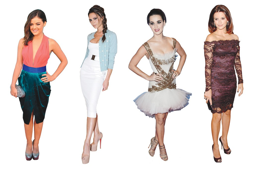 Lucy Hale, Victoria Beckham, Katy Perry and Penélope Cruz.