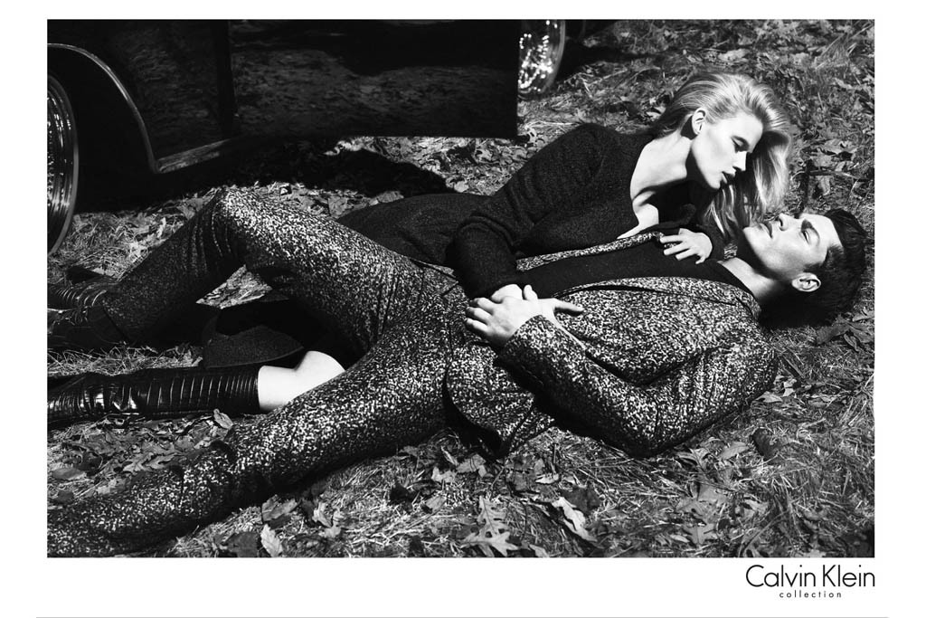 A visual from the Calvin Klein Collection campaign.