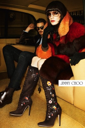 A Jimmy Choo campaign image.