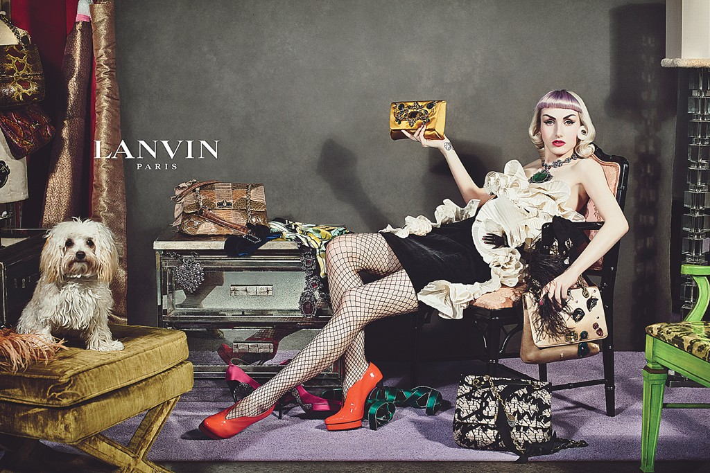 Real people model in Lanvin's fall ads.