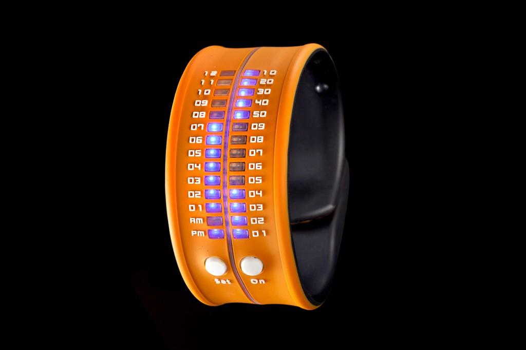 A snap bracelet watch from Reflex.