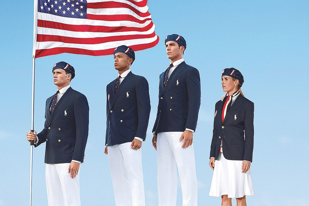 The Ralph Lauren opening ceremony outfits.