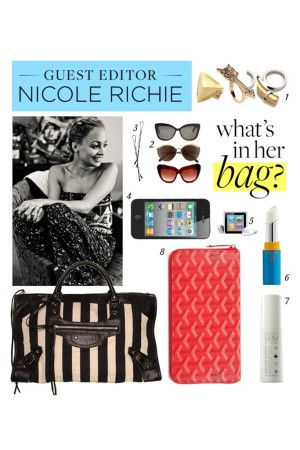 A screenshot of Nicole Richie's hand-picked items for Polyvore's new initiative.