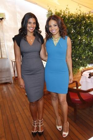 Rachel Roy and Sanaa Lathan