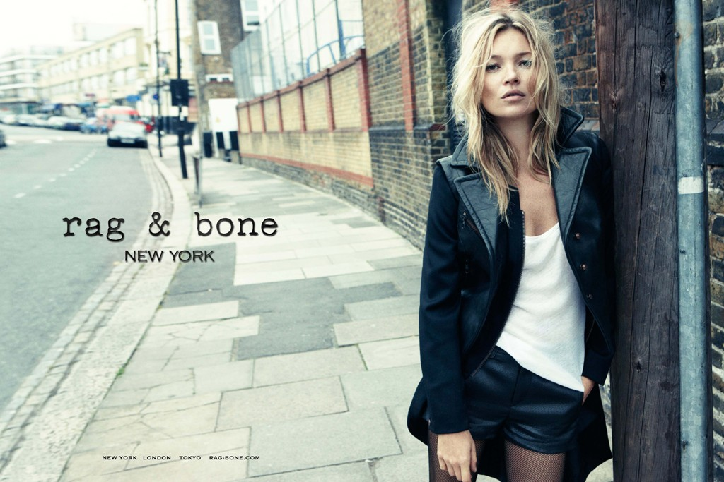 Rag & Bone's first ad campaign, which features Kate Moss, was shot in Kentish Town, north London, by Craig McDean.