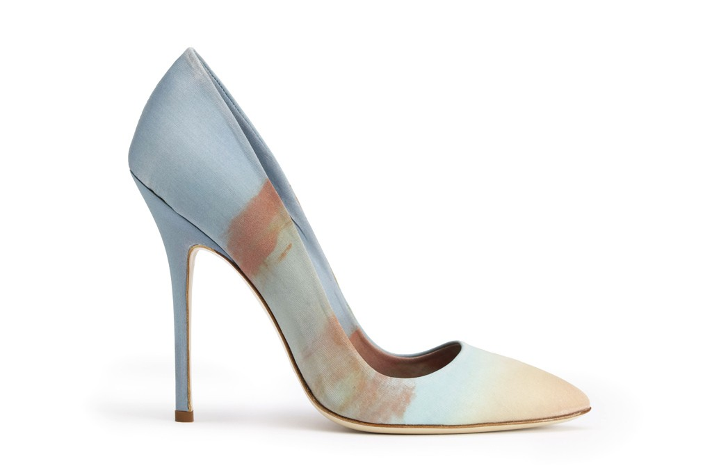 This hand-painted pump was inspired by a photo taken by Vivier creative director Bruno Frisoni.