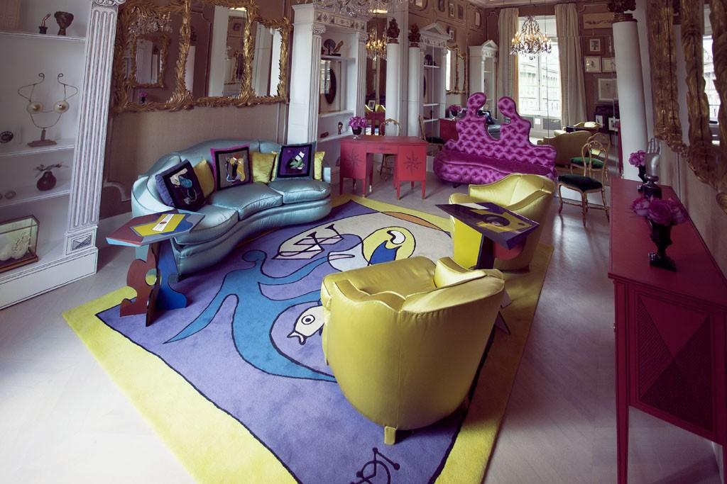 A view inside Schiaparelli's Paris couture salon.