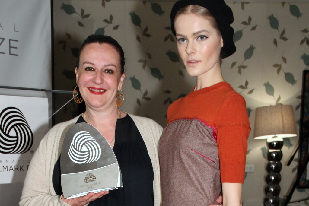Sophie Theallet and her winning wool design.