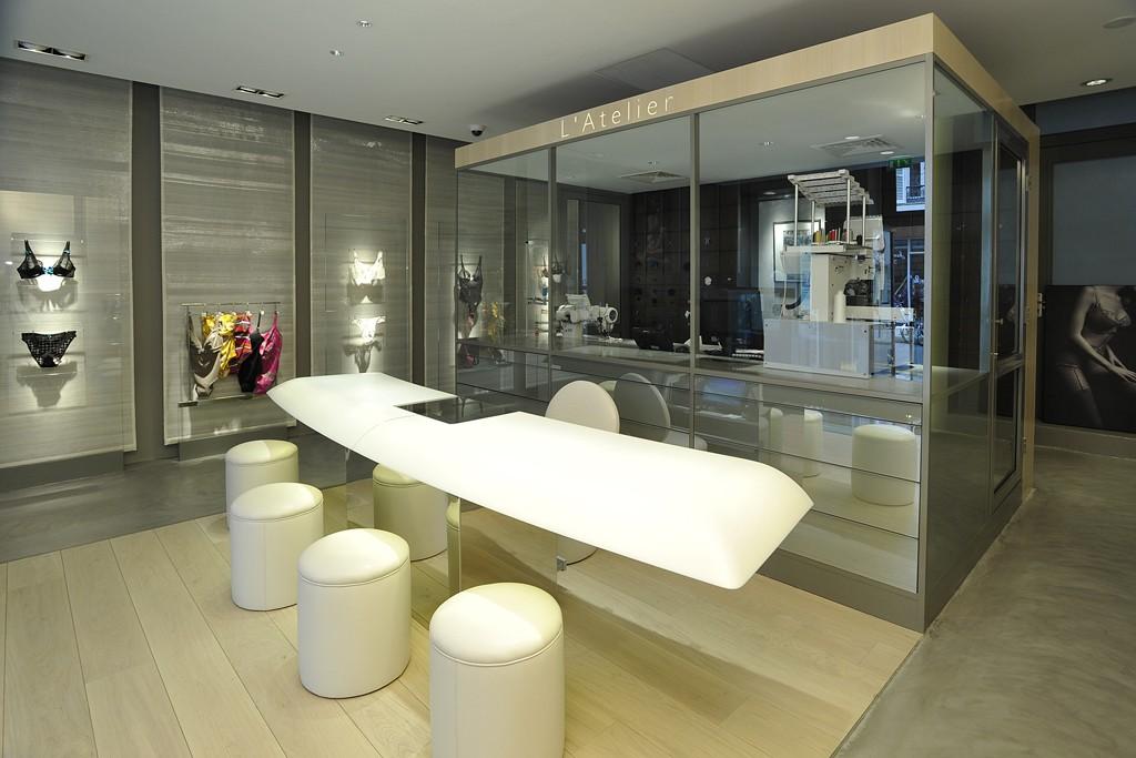 The interior of the Empreinte concept store.