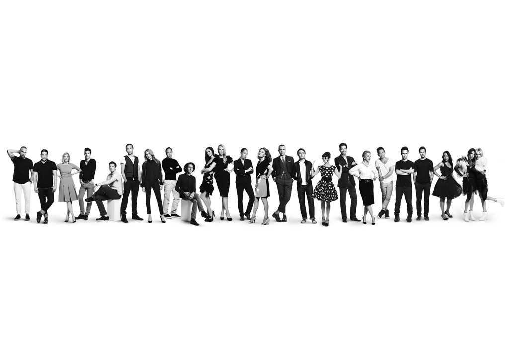 Many of the designers in Target's and Neiman's joint holiday line appear in this campaign shot.