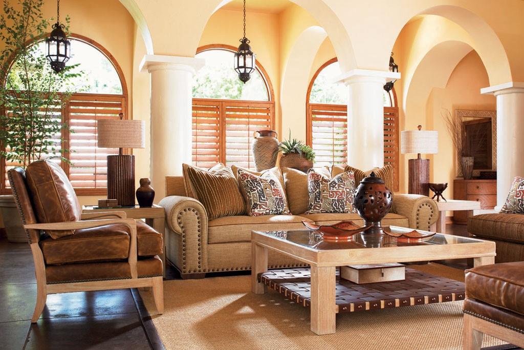 Tommy Bahama's indoor furniture.