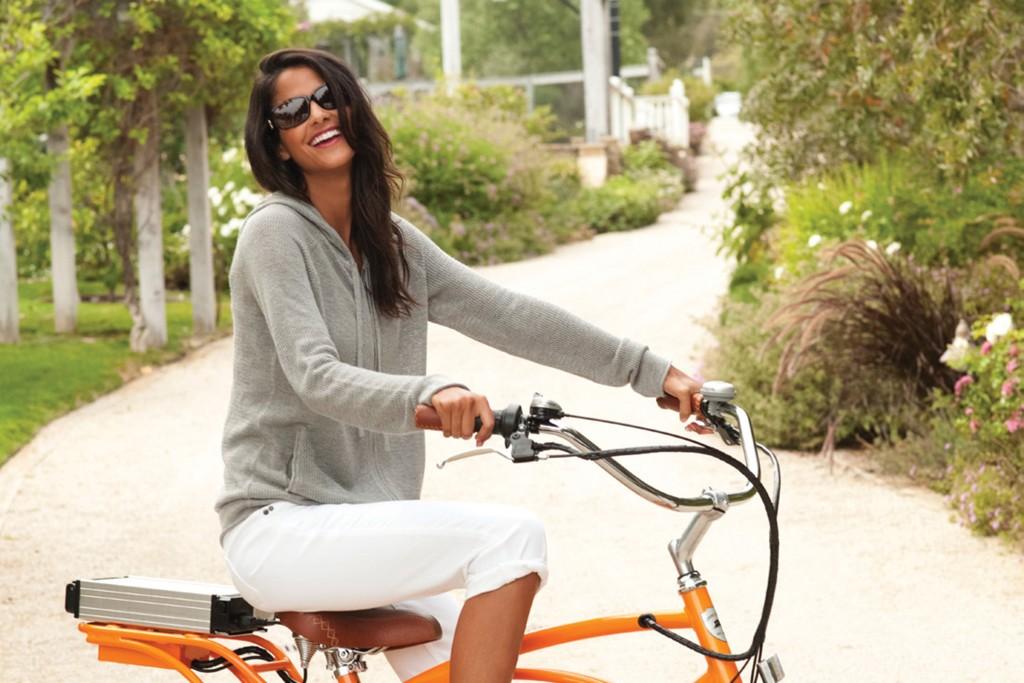 An electric bike.