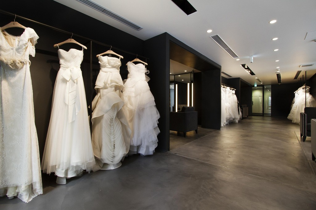 Inside the Vera Wang Bridal Boutique in Tokyo.