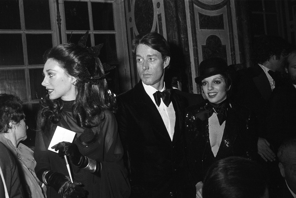 Marisa Berenson, Halston and Liza Minnelli at the festivities.
