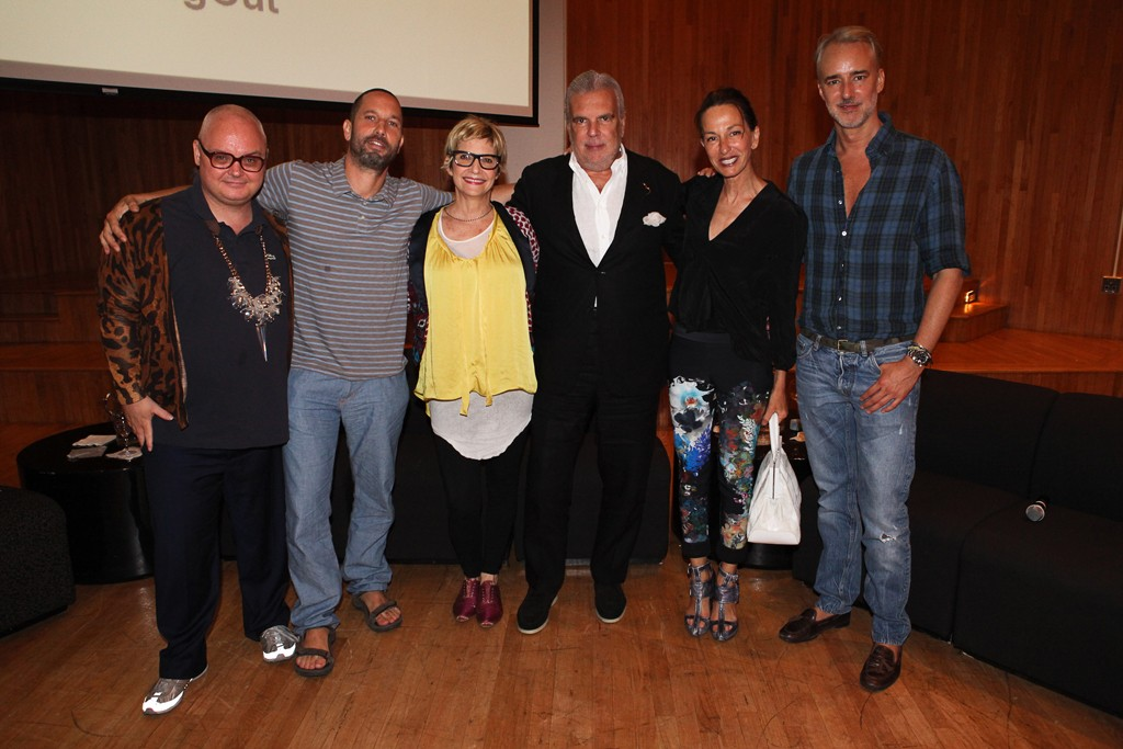FROM LEFT: Mickey Boardman, Alexis Bittar, Lori Goldstein, Terron Schaefer, Cynthia Rowley and Michael Bastian.