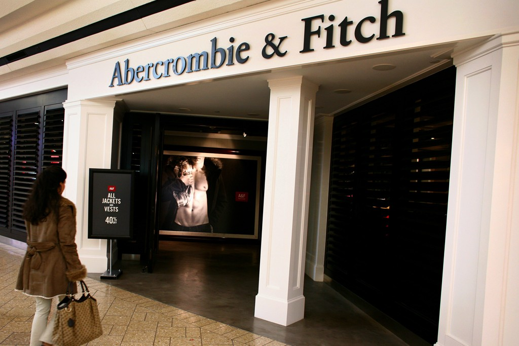 A shopper at an Abercrombie & Fitch Co. store.