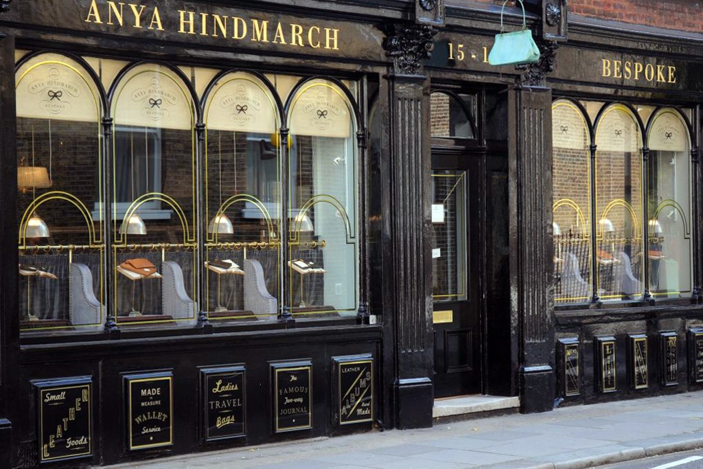 A view of an Anya Hindmarch store.