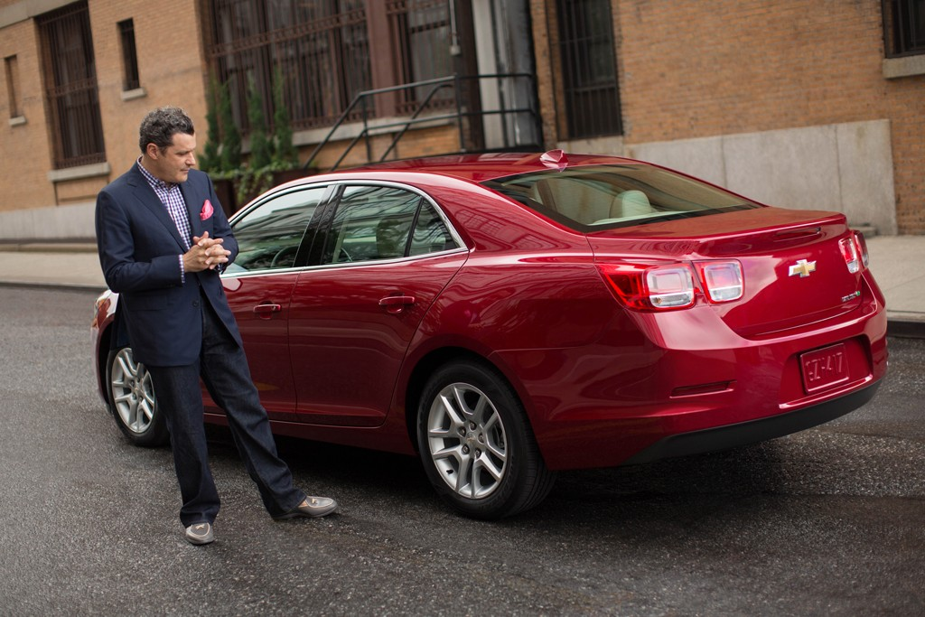 Isaac Mizrahi and the Chevy Malibu.