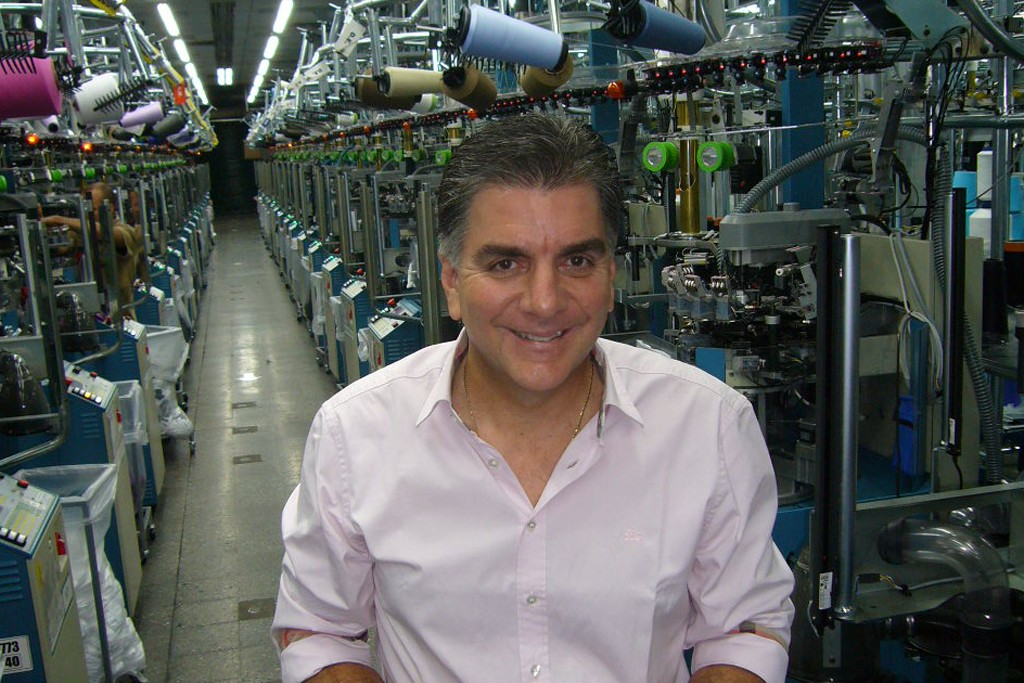Grupo Crystal president Luis Fernando Restrepo on the floor of one of the company plants in Medellin.