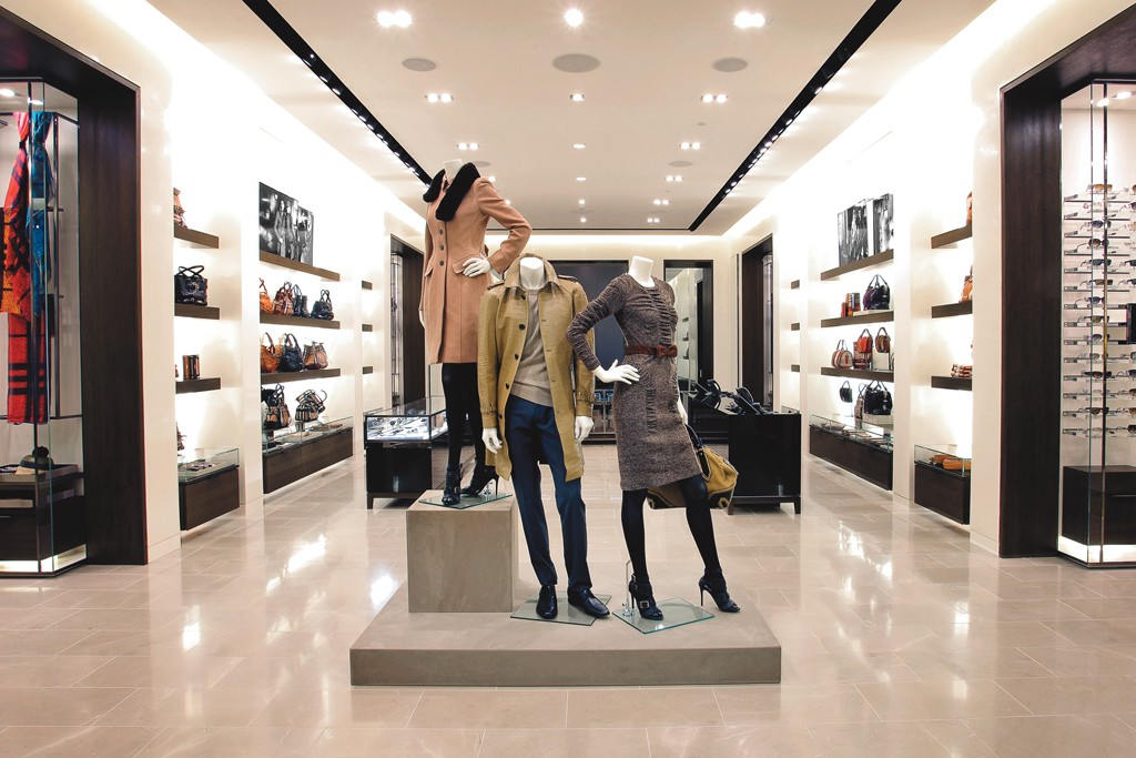The Burberry store in São Paolo.