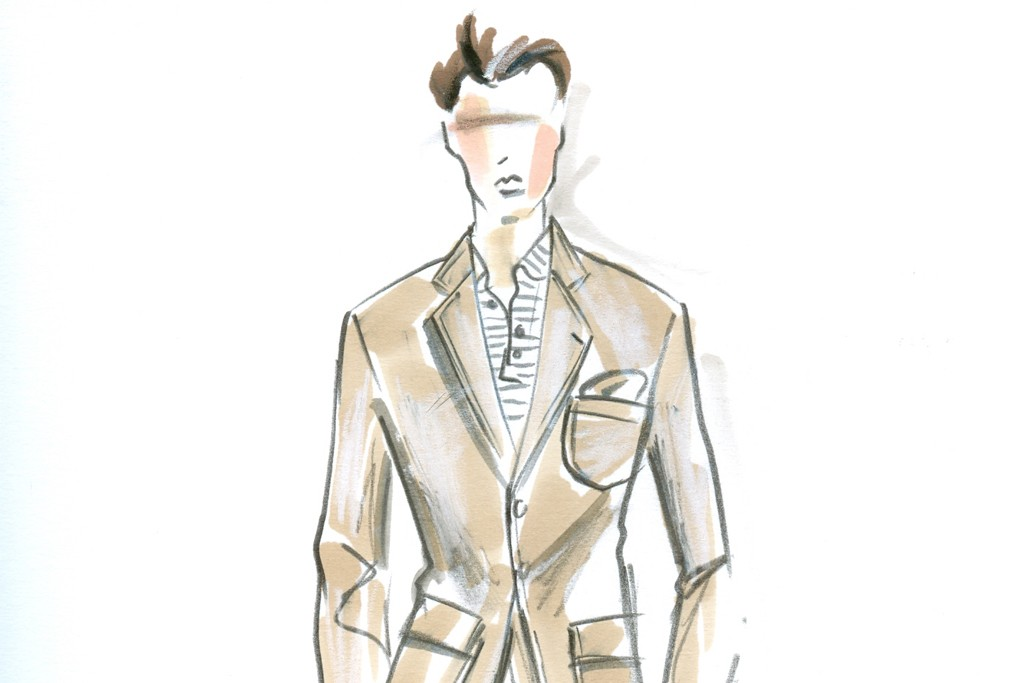 A sketch from Greg Norman's tailored collection.