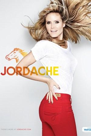 Jordache's first print ad with Heidi Klum.